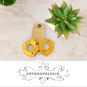 NWT ANTHROPOLOGIE HAMMERED WASHER POST EARRINGS
